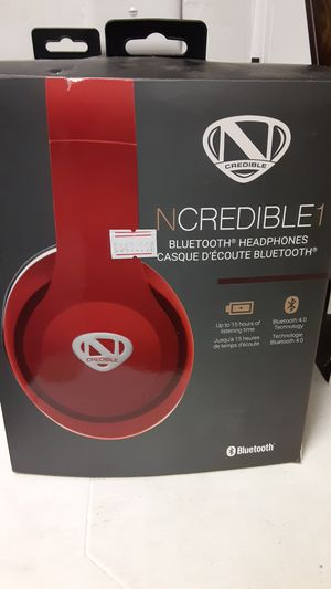 Awesome red Ncredible1 Bluetooth headphones for Sale in San Angelo, TX