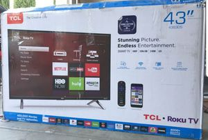 """43"""" TCL UHD 4K ROKU TV for Sale in Los Angeles, CA"""
