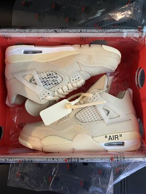 Air Jordan 4 Retro Off White SP Sail women's size 6 / men's 4.5 NEW for Sale in Santa Ana, CA