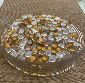 9 Glass dishes for centerpieces with glass beads for Sale in Fort Lauderdale, FL