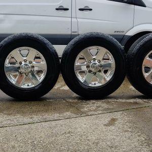 Dodge Ram 2500/3500 Oem Wheels & Goodyear Wrangler Tires for Sale in Tacoma, WA