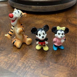 Disney Mickey Minnie And Tigger Ceramic Figures for Sale in Fort Lauderdale, FL