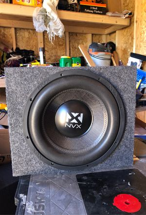 Nvx 12 inch subwoofer with box 750 watts RMS 1000 watts Peak for Sale in Heber-Overgaard, AZ