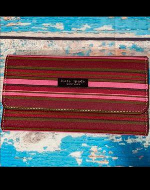 Kate Spade Pink Striped Wallet for Sale in Abilene, TX