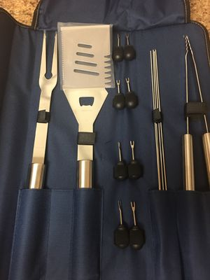 16 pieces bbq grill stainless steel set for Sale in Riverside, CA