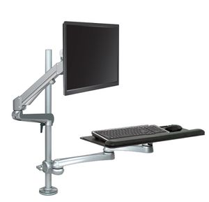 Ergonomic sit to stand articulating computer station. Monitor and key board system -ESI Evolve edge for Sale in Portland, OR