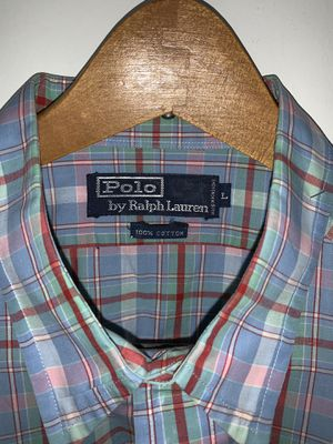 Vantage Men's Ralph Lauren Polo shirt. Size: L, Color: Multi , Design: Long Sleeve for Sale in Chevy Chase, MD