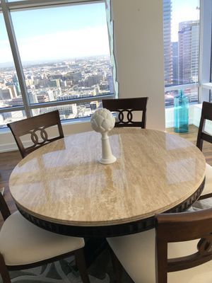 Stone round dine table. Excellent quality for Sale in Los Angeles, CA