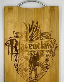 Harry potter ravenclaw laser engraved bamboo high quality cuttingboard pop gift for Sale in Los Angeles,  CA