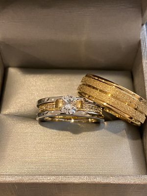 Beautiful Matching Ring Set— 18K Gold plated Rings for Sale in San Jose, CA