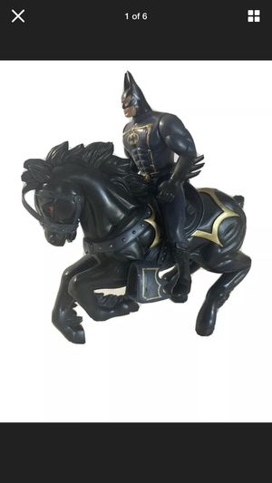 Vintage 1994 Legends of Batman Caped Dark Rider Figure & Horse Action Toy DC COM for Sale in Beaverton, OR