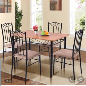 Added to WishlistRemoved from Wishlist       5 pcs Dining Set Wooden Table and 4 Cushioned Chairs for Sale in El Monte, CA