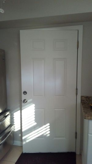 Exterior 6 Panel Steel Door for Sale in North Redington Beach, FL