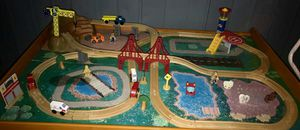 Wooden track set for Sale in Manassas Park, VA