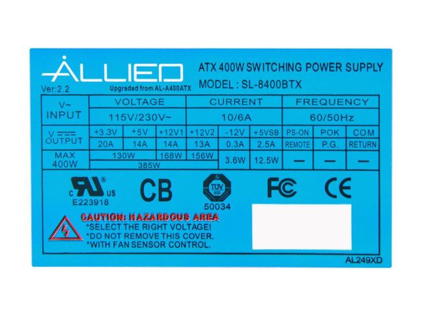Power supply info in pictures