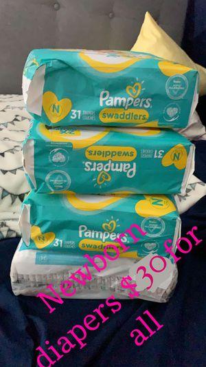 Newborn diapers for Sale in Pompano Beach, FL