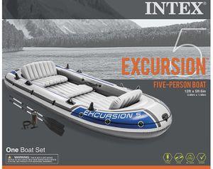 Intex Excursion 5 Boat Set. SKU: 68325EP for Sale in Hoffman Estates, IL