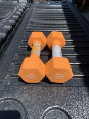 Brand New CAP Neoprene 8LB Dumbbells for Sale in Newark, CA