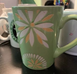 Green Floral Mug for Sale in Hannibal, MO