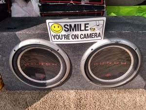 Car subwoofer in box with amp / Rockford fosgate p1s for Sale in Wheat Ridge, CO