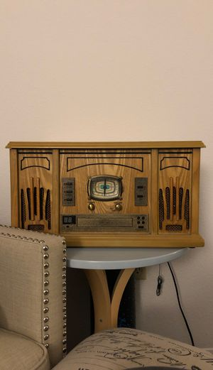 Excalibur RD54 3-in-1 Music Player Oak Wood Color - RD54 for Sale in DuPont, WA