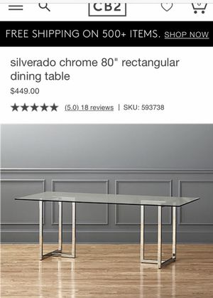 CB2 glass top table for Sale in Baltimore, MD