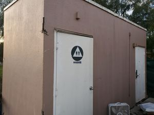 Storage container made into a restroom for Sale in Pomona, CA