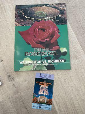 1981 Rose Bowl Souvenir program and ticket Stub for Sale in Portland, OR