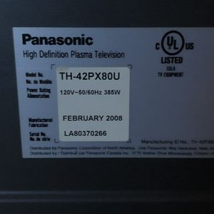 42 inch plasma high definition Panasonic TV for Sale in Manassas, VA