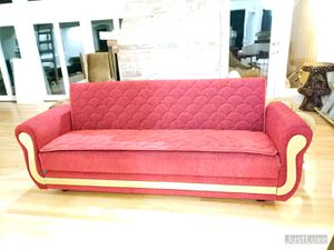 Luxury Gold Red Velvet Futon for Sale in Bellevue, WA