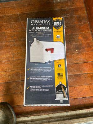 Mailbox white aluminum for Sale in Brockton, MA