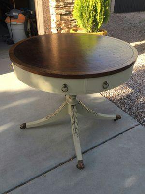 Large antique table 32 Dia x 28H. for Sale in Avondale, AZ