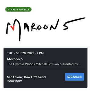 Maroon 5 Concert Tickets for Sale in Cypress, TX