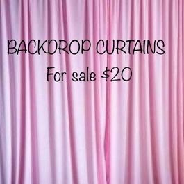 🖤🤍BACKDROP CURTAINS FOR SALE 🤍🖤 for Sale in Chino, CA