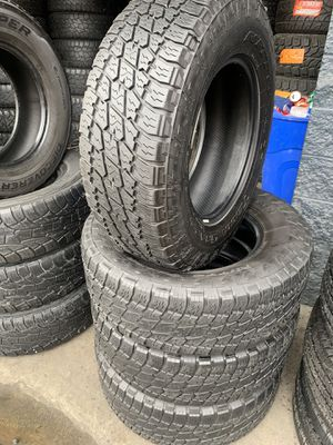 265/70/17 set of Nitto AT tires installed for Sale in Rancho Cucamonga, CA