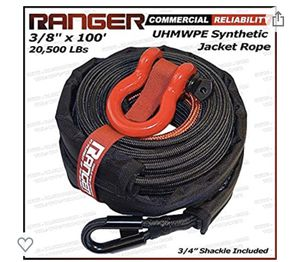 Jacket synthetic winch rope for Sale in Rancho Cucamonga, CA