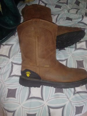 Size 13 slip resistant steel toe boots brand new only wore for 5 min. for Sale in Bakersfield, CA