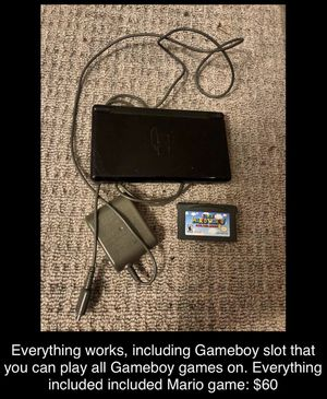 Nintendo DS Lite + Charger + Classic Mario Game for Sale in Pikesville, MD