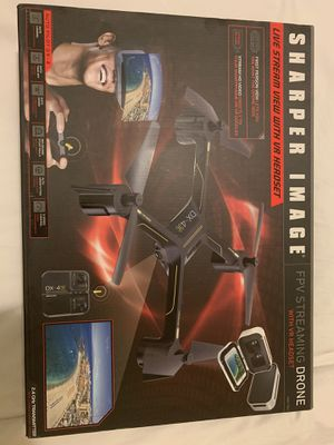 Sharper Image FPV streaming drone with VR headset for Sale in New York, NY