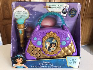 New Aladdin Sing-Along Boombox for Sale in Downers Grove, IL