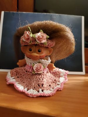 Troll female Rosie crochet dress and head piece for Sale in HUNTINGTN BCH, CA