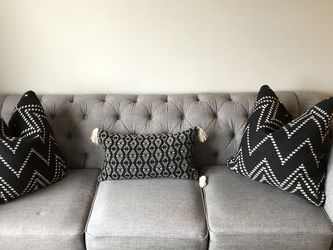 2 Grey Linen Sofas for Sale in Monroe Township,  NJ