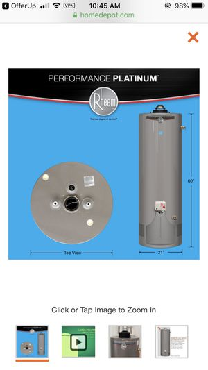 Model # xg40t12du38u1 Brand new house water heater Rheem platinum for Sale in South Gate, CA