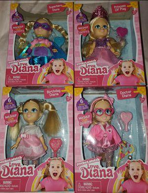 "LOVE DIANA Mashups Princess Of Play 6"" Doll & Brush for Sale in Fontana, CA"