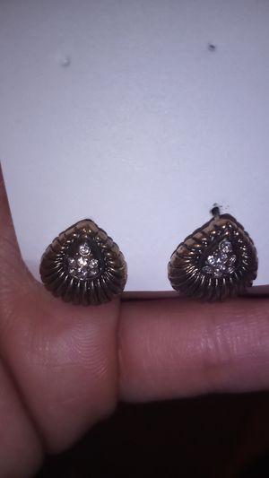 Bronze Fake Diamond Earings for Sale in Murrieta, CA