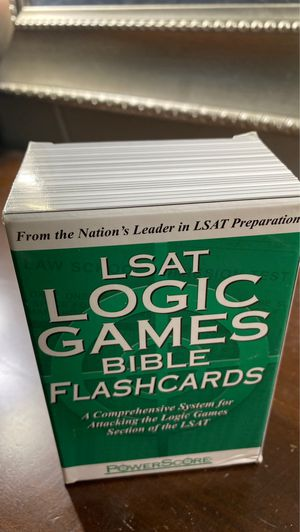 PowerScore LSAT prep flash cards. (logic games) for Sale in Avondale, AZ