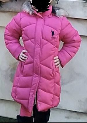 Girl's Long Coat (US Polo Assn) Size 6x for Sale in Henderson, NV