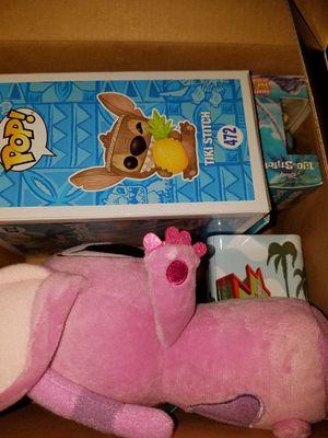 Funko pop Lilo and Stitch box Disney scented tiki stitch angel plush hero stitch mini for Sale in Ontario, CA