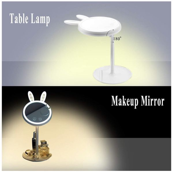LED Makeup Mirror Vanity Mirror with Lights - 3 Color Lighting Modes, Also can be used as a charging Table lamp, 7x Magnification, Lighted Up Mirror