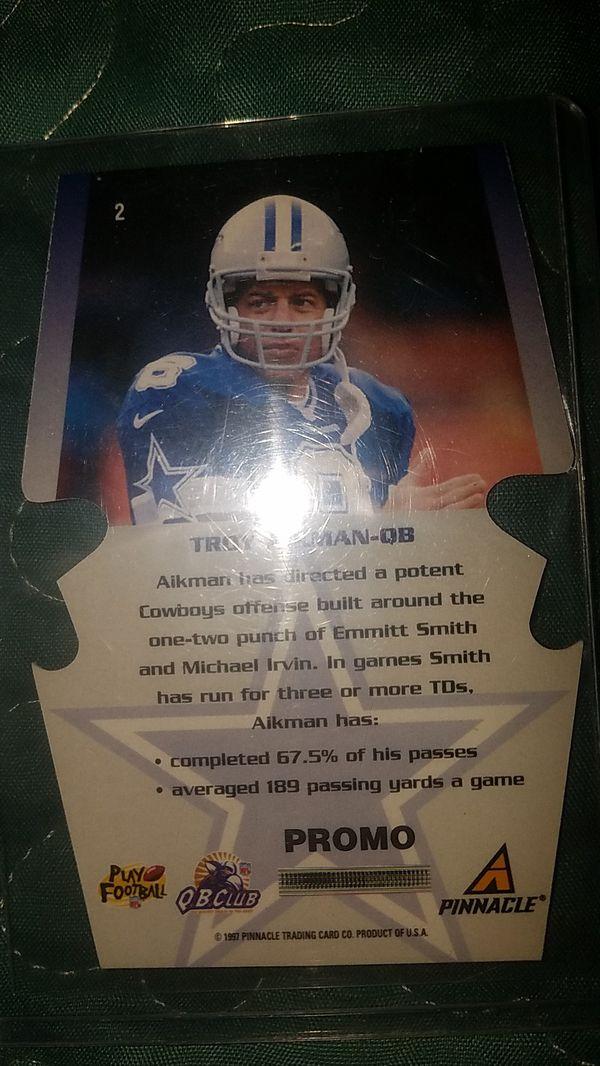 """TROY AIKMAN"" Pinnacle card"